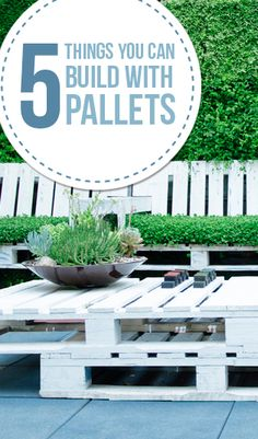 Here are 5 ideas of things that you can build with pallets. There are lots of home decor items and furniture items that can be built from pallet wood. But, here are some of the most popular things ...