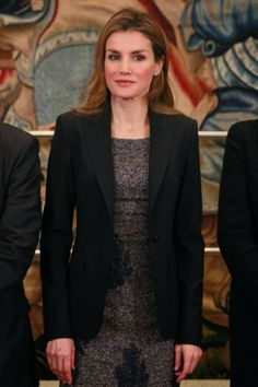 MYROYALS &HOLLYWOOD FASHİON: Princess Letizia Attended Audiences in Madrid, February 10, 2014