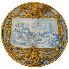 19th Century French Faience Charger | From a unique collection of antique and modern dinner plates at https://www.1stdibs.com/furniture/dining-entertaining/dinner-plates/