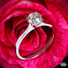 Solitaire Engagement Ring - $771 - http://www.whiteflash.com/engagement-rings/solitaire/comfort-fit-surprise-diamond-ring-183.htm