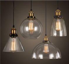New Modern Vintage Industrial Retro Loft Glass Ceiling Lamp Shade Pendant Light Industrial Ceiling Lights, Led Pendant Lights, Glass Pendant Light, Pendant Light Fixtures, Glass Chandelier, Glass Pendants, Pendant Lighting, Glass Ceiling, Pendant Lamps