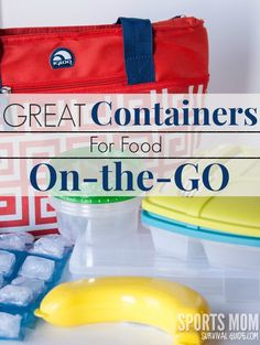 Great Containers for Food On the GO    Find some great options at the dollar store!