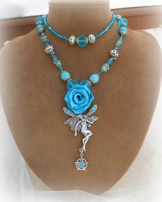Summer Fairy Pentacle Double strand  necklace by MoonwiseCreationz, $32.99