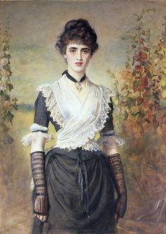 'Il Penseroso' by John Everett Millais (British, 1829-1896).