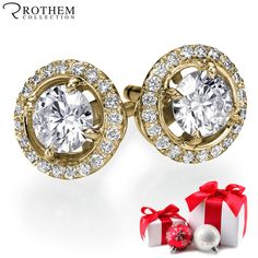 Fine Jewelry Cooperative 1.5 Carat Real Natural Diamond D Vs2 Round Cut Set In 14k White Gold Earrings Various Styles