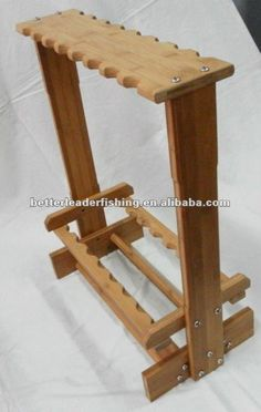how to make a wooden fishing rod holder - Google Search