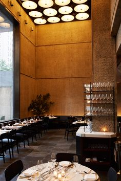 The lower level of The Met Breuer museum in New York now houses a space for visitors to dine and drink in the surrounds of the brutalist-style building.