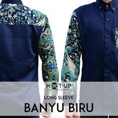 Kemeja Pria Banyu Biru Batik