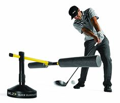 Designed to get rid of your slice the slice eliminator golf swing path trainer by SKLZ provides immediate feedback on slicing and hooking paths Golf Swing Training Aids, Golf Training, Golf Aids, Golf Channel, Perfect Golf, Play Golf, Sports Equipment, Golf Clubs, Trainers