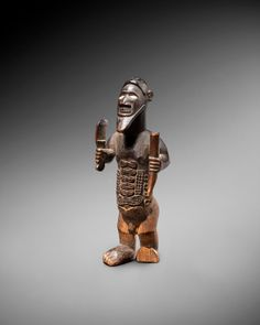 Bembe figure | Virtual Tribal and Textile Art Shows Different Symbols, French Collection, Brown University, Red Paint, Ivory Coast, Papua New Guinea, Sierra Leone, 14th Century, Congo