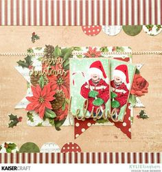 Scrapbooking the Spirit of Christmas. 'Believe' layout with Kylie Kingham Design Team member for Kaisercraft Official Blog. Layout created using September 2017 ' Letters to Santa' collection. Learn more at kaisercraft.com.au - Wendy Schultz - Kaisercraft Layouts.
