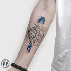 Lion Tattoo by Baris Yesilbas