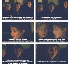 The story starts out with her talking about her brother then it moves on to Max