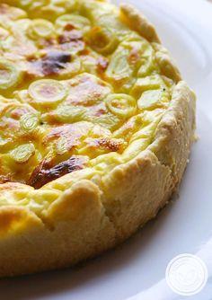 Quiche de Alho-poró - uma torta francesa para o almoço da família! #receita #quiche #torta #vegetariana