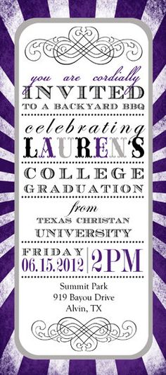 Should you love great invitations you really will enjoy this coolsite! College Graduation, Graduation Ideas, Graduation Party Invitations, Grad Parties, Lets Celebrate, Youre Invited, Bat Mitzvah, To My Daughter, Party Time