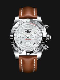 As are all of Breitling's movements, the Manufacture Breitling Caliber 01 movement is chronometer-certified by the COSC. This Breitling Chronomat an aviation chronograph, is available in steel, steel and rose gold, or rose gold. Breitling Superocean Heritage, Breitling Chronomat, Breitling Watches, Diesel Watches For Men, Sport Watches, Cool Watches, Unique Watches, Wrist Watches, Running Watch