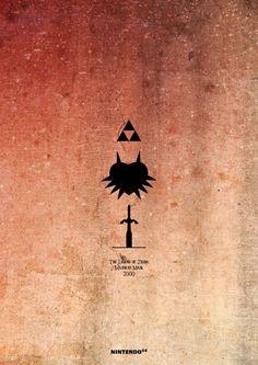 Esteban Hidalgo - minimalist Zelda posters - Majora's Mask