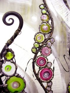 spiral art: squiggles © Gill Hobson 2011