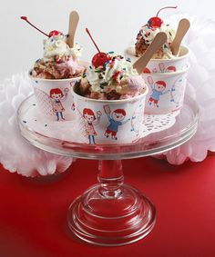 Take a look at this Vintage Ice Cream Cup - Set of 12 by Party Partners on #zulily today!