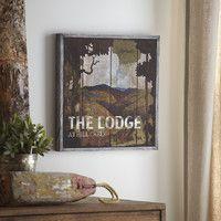 Lodge Wood Wall Art