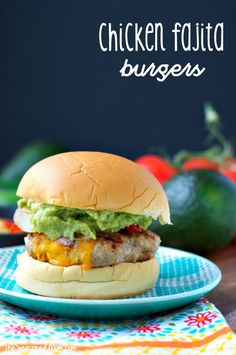 It's the season for cookouts, parties, and picnics! Whether you fire up the outdoor grill or prepare them in a skillet, these Chicken Fajita Burgers are an easy, family-friendly dinner that's ready in just 20 minutes!