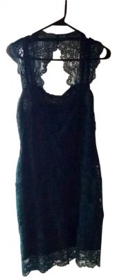 Nicole Miller Cut out back, lace Dress