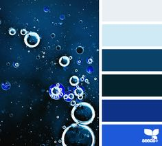 Bubbled blues - Color Palette - Paint Inspiration- Paint Colors- Paint Palette- Color- Design Inspiration