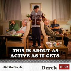 Derek, giving a tour of the retirement home where he works...