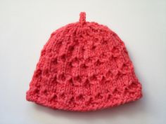 Hand Knitted Baby Hat  by SasasHandcrafts