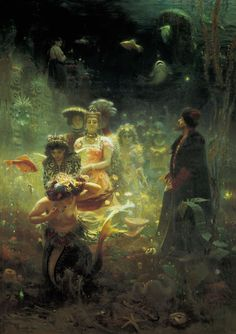 Ilya Repin - ISadko in the Underwater Kingdom. Oil on canvas. 323 × 230 cm. The State Russian Museum, St. Petersburg