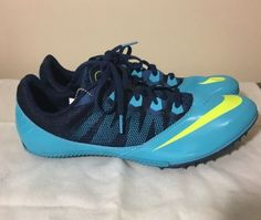 separation shoes 13ccb e379e NEW Mens NIKE ZOOM RIVAL S 7 Gamma Brave Blue Volt Sprinter Track Spikes  size-12