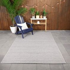 Natural Ash Grey 5 ft. x 7 ft. Striped Indoor/Outdoor Area Rug Outdoor Carpet, Indoor Outdoor Area Rugs, Outdoor Decor, Patio Rugs, Vinyl Tiles, Area Rug Sizes, Home Depot, Colorful Rugs, The Hamptons