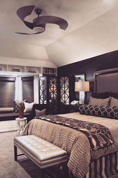 dark style, amazing bedroom, luxury lifestyle - Dream Homes