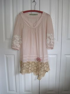Rustic tunic gypsy cowgirl bohemianVintage lace by ShabyVintage, $44.77