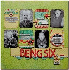 Being Six #scrapbook #layout #simple #grid