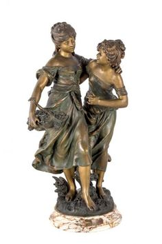 Auguste, Classic Architecture, Bronze Sculpture, Home Decor Furniture, Wood Carving, Les Oeuvres, Auction, Statues, 1920s
