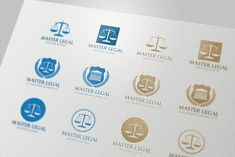 Law Office Logo Collection by Super Pig Shop on Creative Market