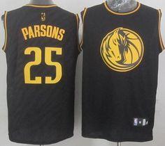 436902b96 Dallas Mavericks Chandler Parsons Revolution 30 Swingman 2014 Black With  Gold Jersey