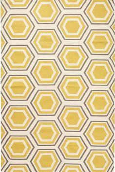 Castleberry Area Rug: a yellow flatweave rug. #HDCrugs HomeDecorators.com