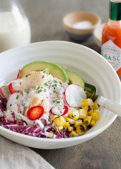 Dungeness Crab Salad with Buttermilk Garlic Pepper Sauce