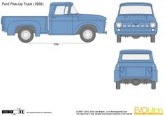The-Blueprints.com - Vector Drawing - Ford Pick-Up Truck