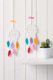 How to make a crochet dreamcatcher - Mollie Makes Mollie Makes, Diy Dream Catcher Tutorial, Crochet Projects, Craft Projects, Sewing Projects, Crochet Gratis, Idee Diy, Crochet Home, Diy Crochet