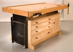 Table Woodworking Plans To Create A Functional Work Surface If you are new to woodworking one of your first projects will more than likely be a workbench for your shop. Table woodworking plans can. Woodworking Bench Plans, Woodworking For Kids, Workbench Plans, Wood Plans, Popular Woodworking, Woodworking Crafts, Teds Woodworking, Workbench Top, Woodworking Equipment