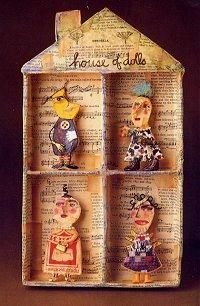 Julie Arkell house - another artist I've met and who inspires me greatly Paper Clay, Diy Paper, Paper Art, Paper Crafts, Altered Boxes, Altered Art, Paper Dolls, Art Dolls, Assemblage Art