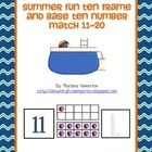 Help your students stay on track this summer by incorporating base ten and ten frame number match-ups into your summertime math work stations! This...