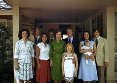 President Jimmy Carter, wife Rosalyn and sons: John William, James Earl, and Donnel Jeffrey with Jimmy & Rosalynn's only daughter, Amy Lynn and the son's wives and children.