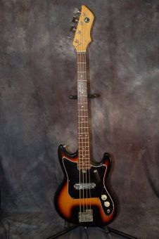 Kay by Tiesco Single Pickup Short Scale Made in Japan Pro Setup 1960's Sunburst image