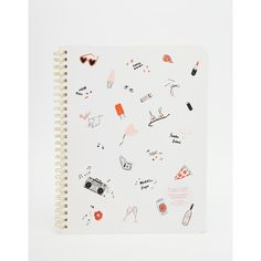 Ban.Do Rough Draft Mini Notebook ($7.23) ❤ liked on Polyvore featuring home, home decor, stationery and multi