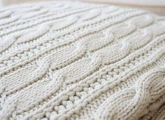 The Lyn Forever Blanket {throw} from Swell Forever: 100% Cotton, Personalized Message Tags, Made in USA, Support Adoption, White, light grey/green, Natural Colors. Moonshine Color.
