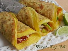 Kolkata Style Chapati Egg Roll Recipe